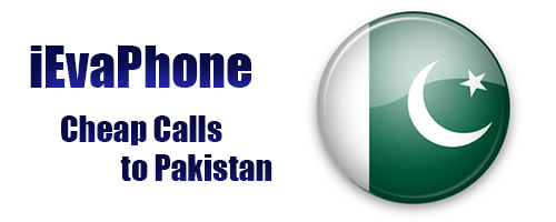 Cheap calls to Pakistan on iEvaPhone