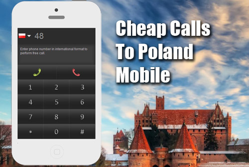 Cheap calls to Poland mobile on iEvaPhone