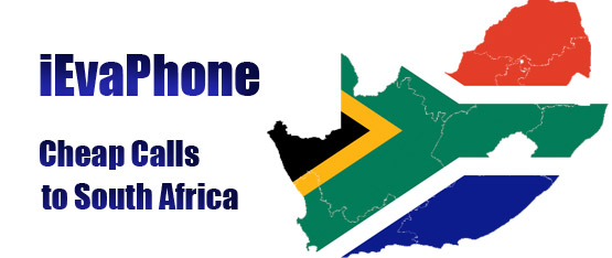 Cheap calls to South Africa on iEvaPhone