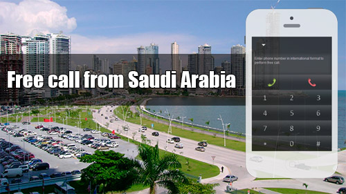 Free call from Saudi Arabia through iEvaPhone