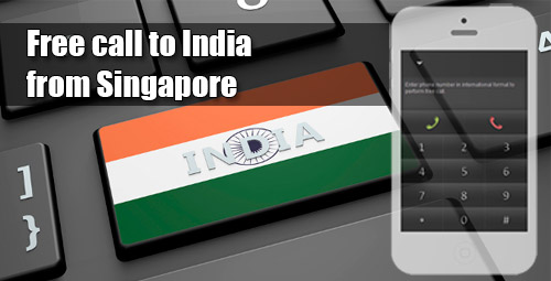 Free call to India from Singapore through iEvaPhone