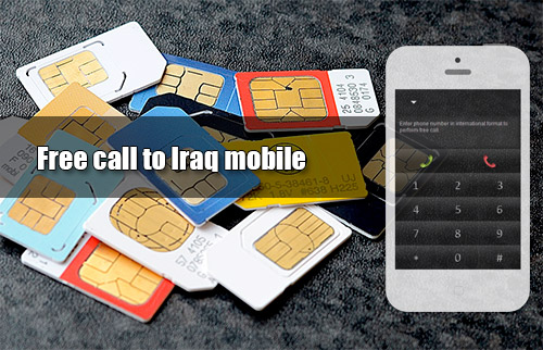 Free call to Iraq mobile through iEvaPhone