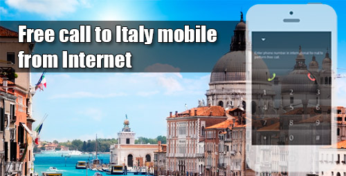 Free call to Italy mobile from Internet through iEvaPhone