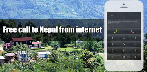 Free call to Nepal from internet through iEvaPhone