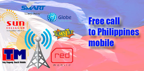 Free call to Philippines mobile through iEvaPhone