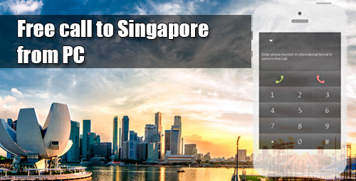 Free call to Singapore from PC through iEvaPhone