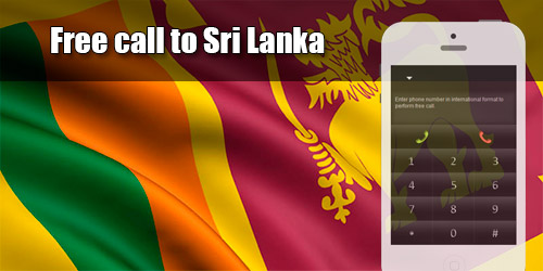 Free call to Sri Lanka through iEvaPhone