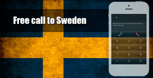 Free call to Sweden through iEvaPhone