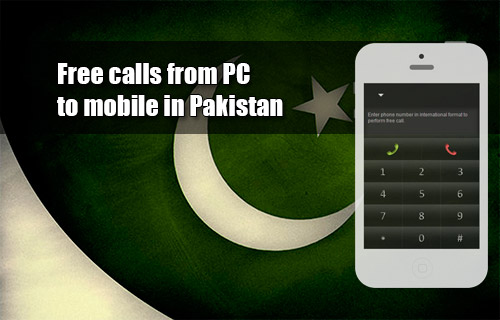 Free calls from PC to mobile in Pakistan through iEvaPhone