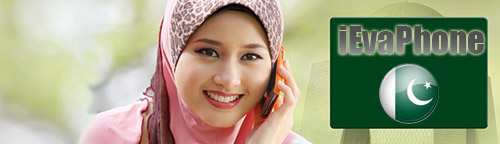 Free calls to Pakistan from internet on iEvaPhone