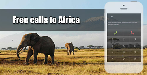 Free calls to Africa on iEvaPhone