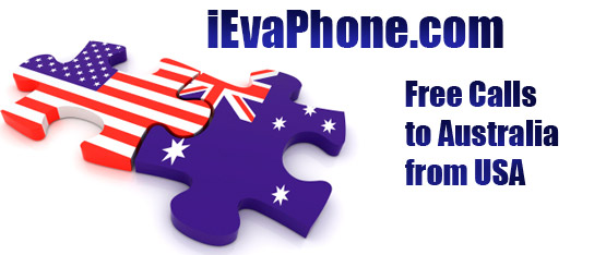 Free calls to Australia from USA on iEvaPhone