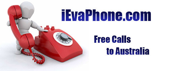 Free calls to Australia on iEvaPhone