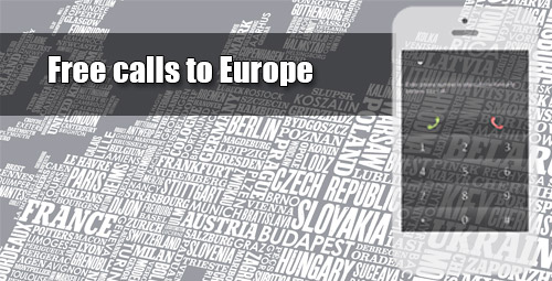 Free calls to Europe on iEvaPhone
