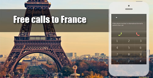 Free calls to France through iEvaPhone