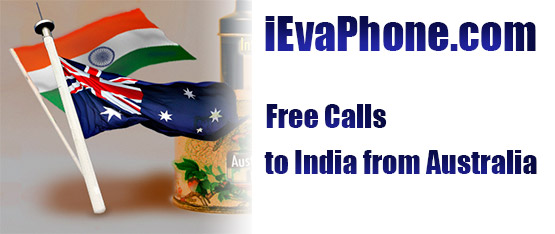 Free calls to India from Australia on iEvaPhone