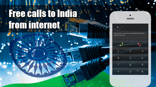 Free calls to India  from internet with iEvaPhone
