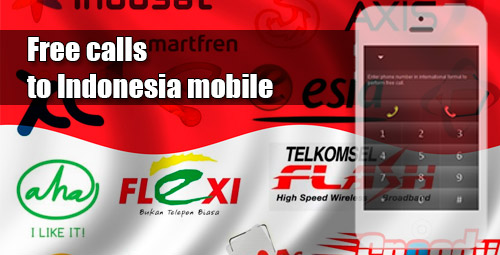 Free calls to Indonesia mobile through iEvaPhone