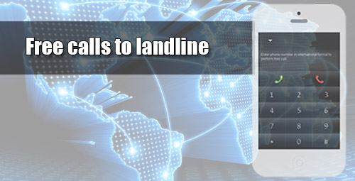 Free calls to landline through iEvaPhone