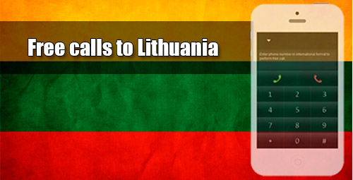 Free calls to Lithuania through iEvaPhone