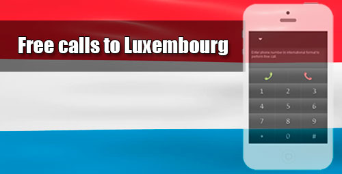 Free calls to Luxembourg through iEvaPhone