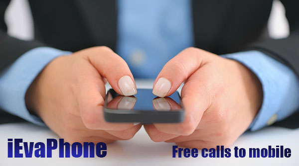 Free calls to mobile on iEvaPhone