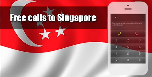 Free calls to Singapore through iEvaPhone
