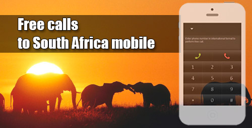 Free calls to South Africa mobile on iEvaPhone