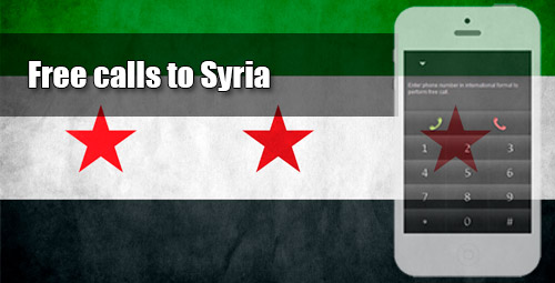 Free calls to Syria through iEvaPhone
