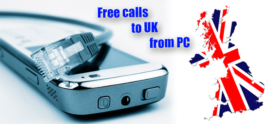 Free calls to UK from PC through iEvaPhone