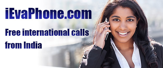 Free international calls from India on iEvaPhone