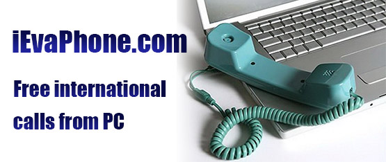 Free international calls from PC on iEvaPhone