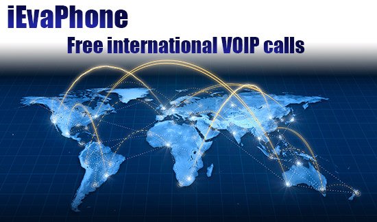 Free international VOIP calls on iEvaPhone