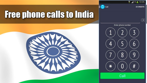 Free phone calls to India with iEvaPhone