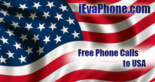 Free phone calls to USA on iEvaPhone