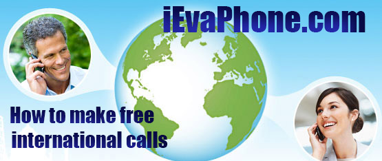 Free international calls from PC to phone on iEvaPhone