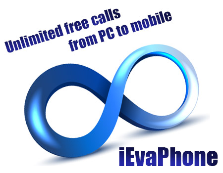 Unlimited free calls from PC to mobile on iEvaPhone